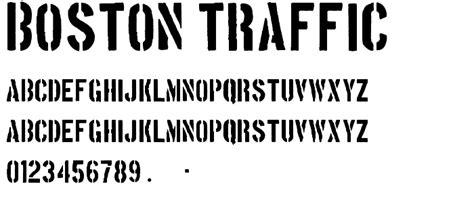 boston traffic font boston traffic font fancy stencil army category
