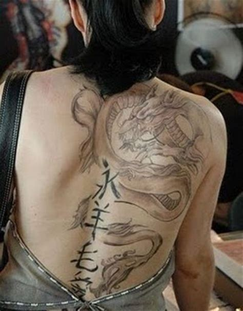 dragon back tattoos shaolin designs for