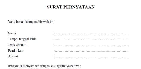contoh surat pernyataan ganti rugi design bild