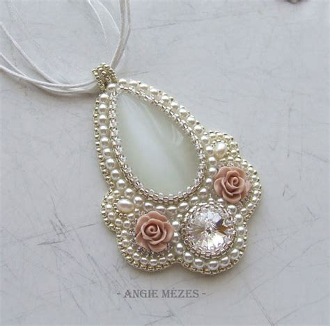 white necklace pattern beaded pendant tutorial bridal necklace pattern beading