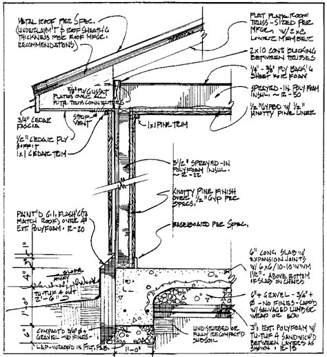 detailed section drawing house design walkers