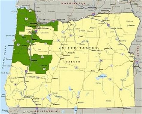 a political map of oregon political map of oregon image search results