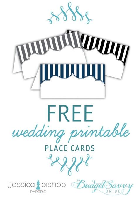 Free Wedding Table Name Cards Template by Free Printable Place Cards Budget Wedding Printable