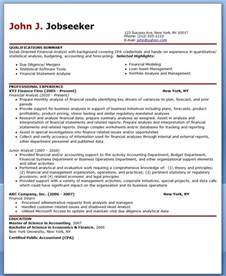Sample Resume Financial Analyst sample cover letter financial analyst resume sample