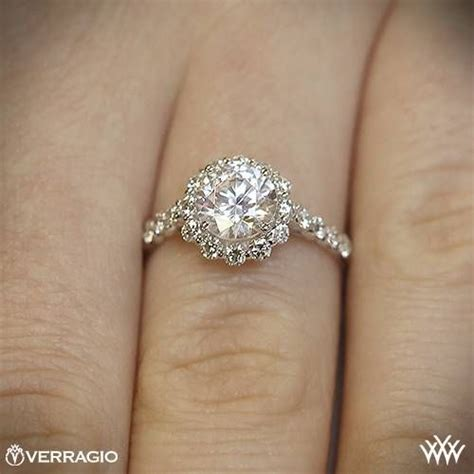Engagement Week Roundup by 18k White Gold Verragio Ins 7033 Halo