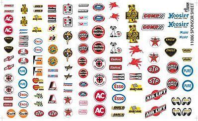 manufacturer sponsor logos #1 plastic model vehicle decal