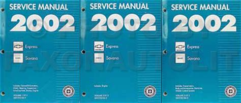 2002 express savana bi fuel repair shop manual supplement 2002 express savana repair shop manual 3 volume set original