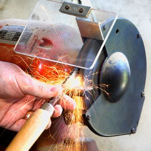 how to use a bench grinder how to sharpen tools on a bench grinder