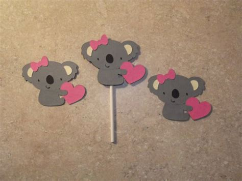 deko australien stanzteile cupcake topper muffin deko koala b 228 r