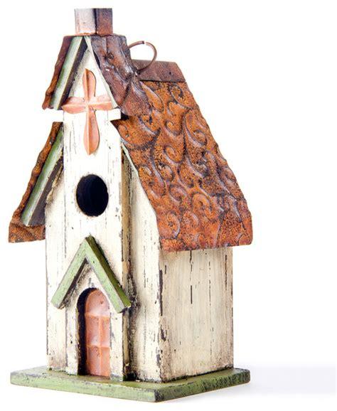 Yellow Bathroom Rugs Glitzhome Rustic Garden Distressed Wooden Church Birdhouse