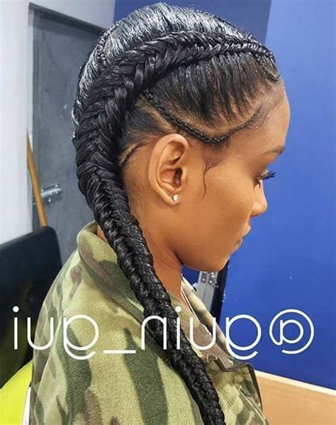 two cornrow braided hairstyle two cornrow braid hairstyles