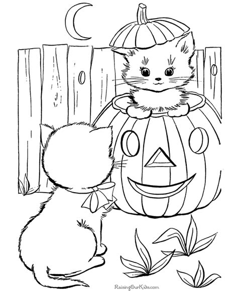 halloween coloring pages pinterest halloween cats coloring pages kittens great vintage