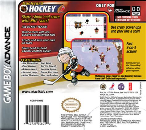 backyard hockey game gameboy advance backyard hockey custom game case retro