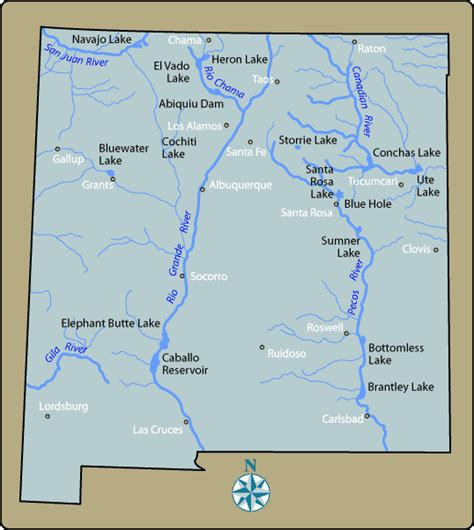 rivers of mexico map new mexico rivers map quotes