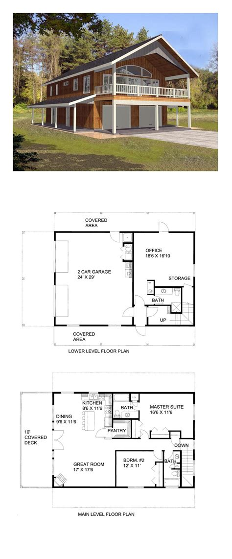 Apartment Plans With Garage by Garage Apartment Plan 85372 Total Living Area 1901 Sq