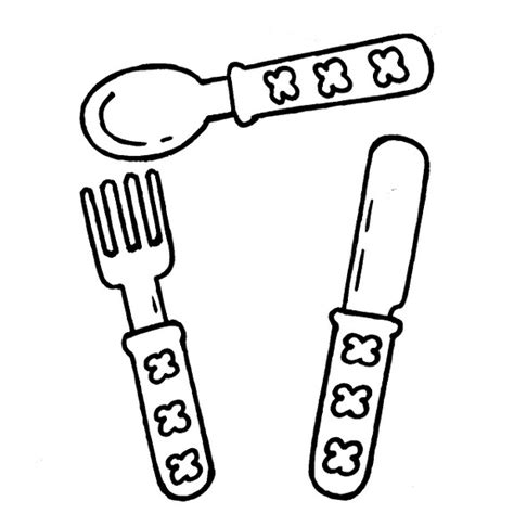 dibujos infantiles utensilios de cocina dibujos infantiles dibujo infantil cubiertos