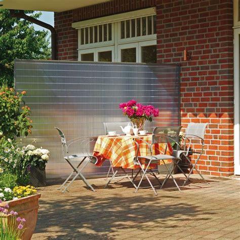 sichtschutz garten transparent sichtschutzzaun pvc kunststoff sunline transparent