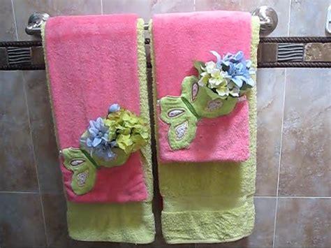 decoracion con toallas como decorar y arreglar las toallas de ba 241 o 3 youtube