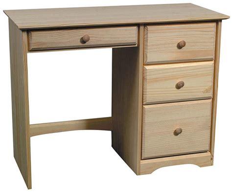 Pine 4 Drawer Desk Natural Unfinished Furniture Pine Desk