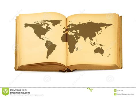 libro photographers a z world map in open book stock photo image of isolated 2031394