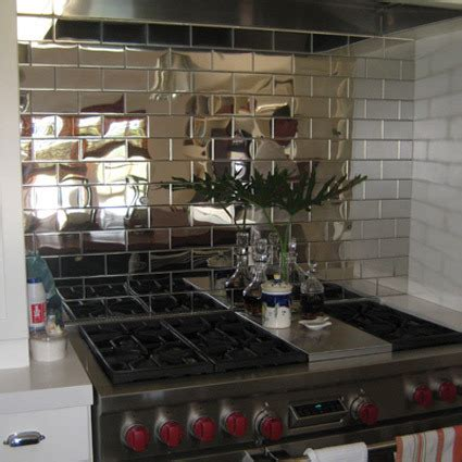 look glass mirror mosaic tile backsplash apartment therapy mirrored backsplashes a breath of fresh air