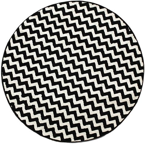 black and white chevron rugs nuloom chevron vibe zebra black white rug 5 3