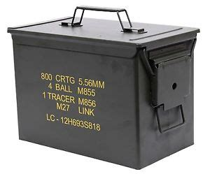 mil spec .50 caliber fat ammo can pa108 new steel od
