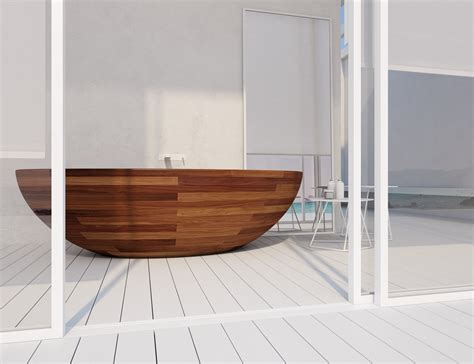 unique bathtubs unique wooden bathtub design icreatived