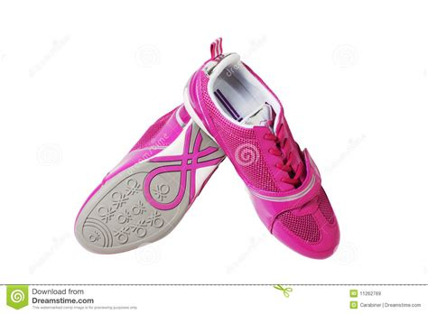 pink athletic shoes pink athletic shoes royalty free stock images image
