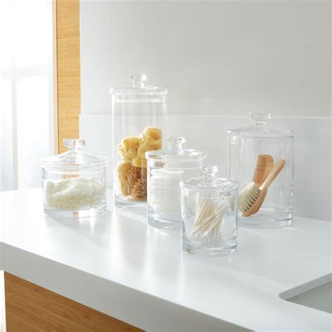 Glass Canisters   Crate and Barrel