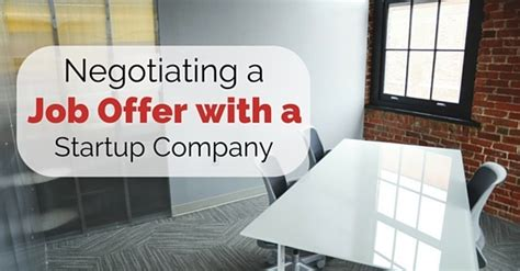 negotiating a offer with a startup company 14 best