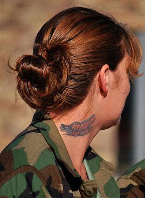 neck tattoo in the army 14 traditional neck army tattoos