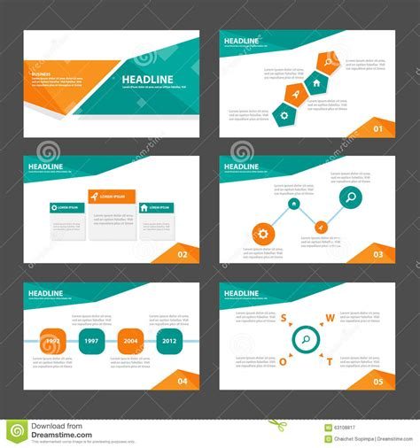 Design Elements When Creating Slides | orange and green presentation template infographic