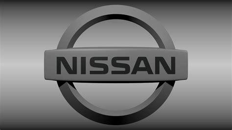 nissan car logo nissan logo 3d model obj blend cgtrader com