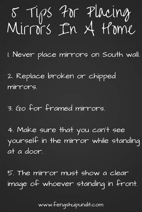 mirror placement feng shui feng shui tips home decor and feng shui on pinterest