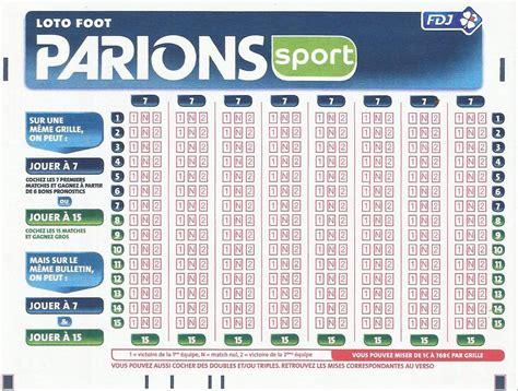 Loto Foot 7 15 Grille Et Pronostic parions sport ligue 1 2015 2016 tout savoir guide du pari