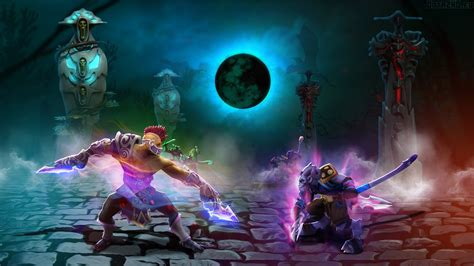 wallpaper dota 2 riki anti mage vs riki dota 2 walldevil