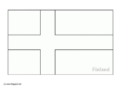 free coloring pages of finland flag