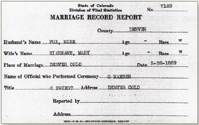 Denver Marriage Records Denver Colorado County Clerk Records