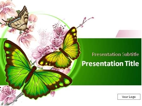Download World Of Butterflies Powerpoint Template Butterfly Ppt Template Free
