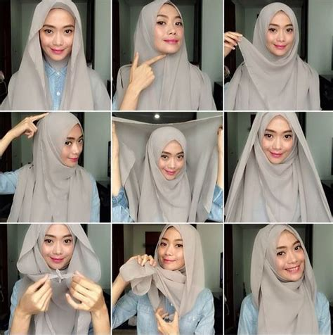 hijab tutorial hijabi pinterest tutorials hijabs and abayas tutorial 5 easy to wear square hijab styles in photos