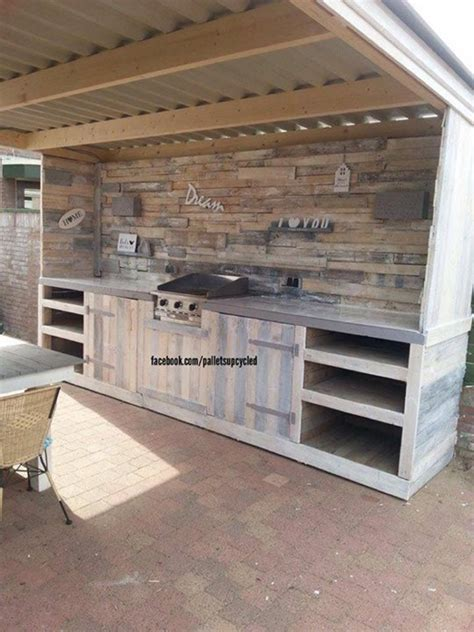 upcycled kitchen ideas upcycled pallets made outdoor kitchen pallet ideas