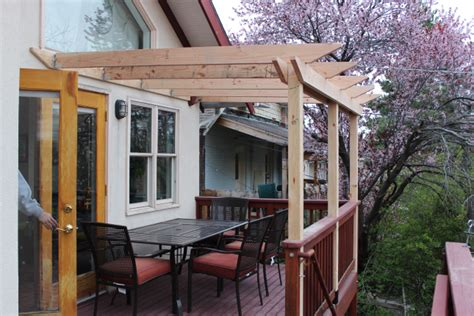 how to build an attached pergola diy attached pergola plans glossy16ecn