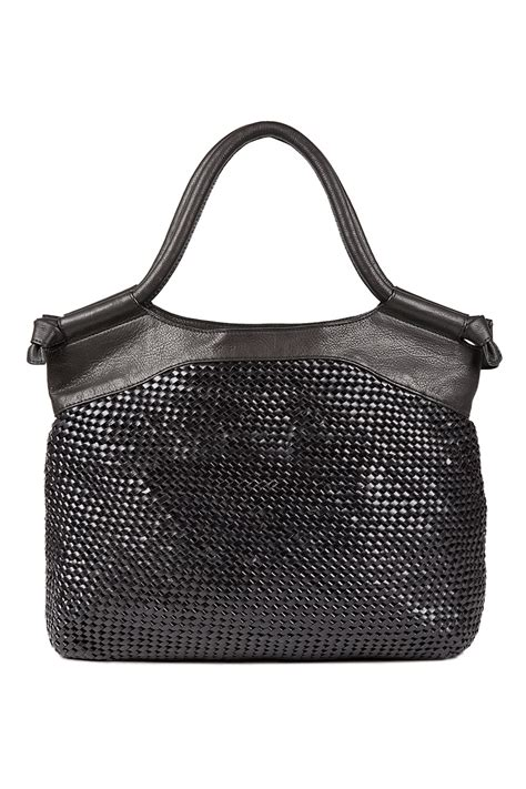 The Bag To Foley Corinna City Clutch by Foley Corinna Woven City Tote Bag In Black Lyst