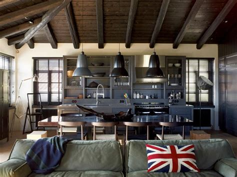 Industrial Home Interior Design by House That Combines Industrial And Traditional Style