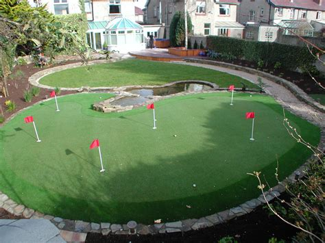 Backyard Driving Range Synthetic Golf Putting Greens Grass Lawns Landscaping