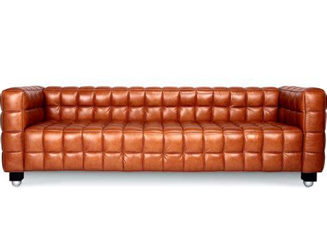 Kubus Sofa 3 Seater By Josef Hoffmann Platinum Replica