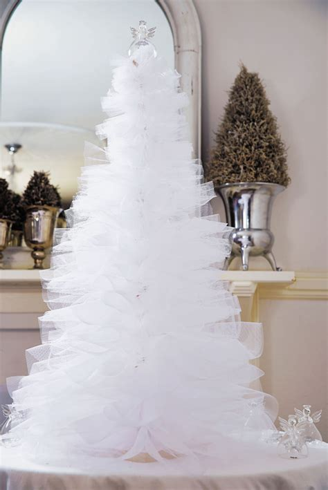 white tulle christmas tree