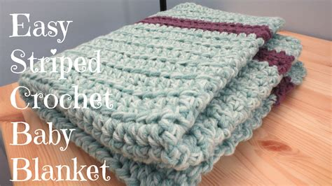 simple pattern for crochet baby blanket crafting with claudie easy striped crochet baby blanket