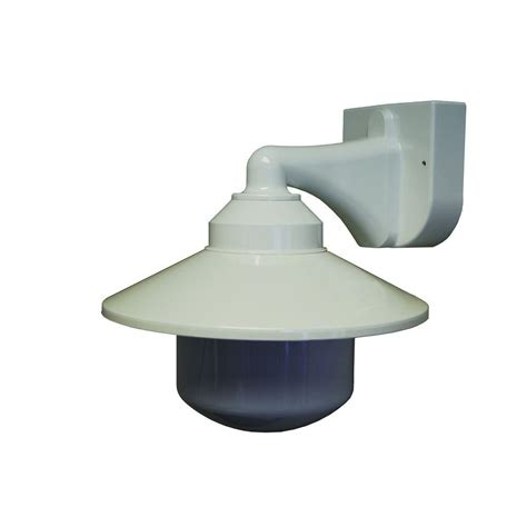 Light Fixture Bracket Polymer Products 1 Light White Outdoor Incandescent Neck Wall Bracket Fixture 2120 L56601a